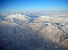 Salt Lake City from the plane USA